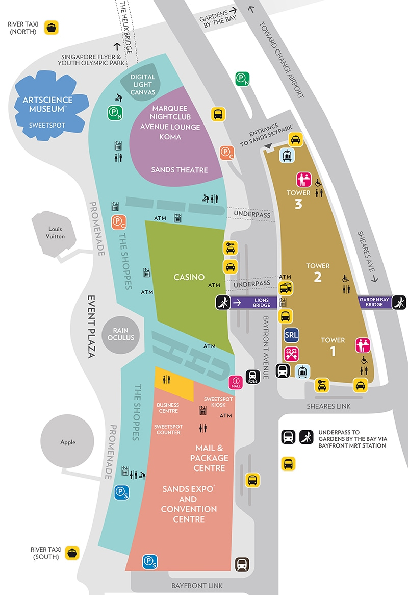 Marina Bay Sands Property Map