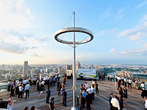 Event at Sands SkyPark Observtion Deck - Meetings at Marina Bay Sands