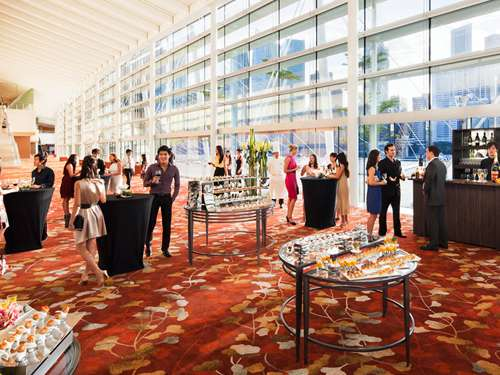 Pre-function areas at Sands Expo and Convention Centre in Singapore