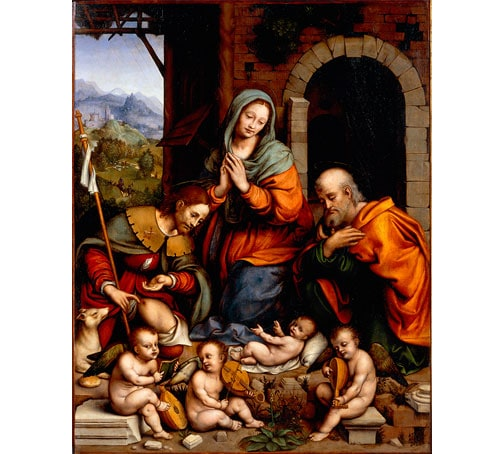 《Adoration of the Child with Saint Roch》,由 Giampietrino (Gian Pietro Rizzoli) 创作