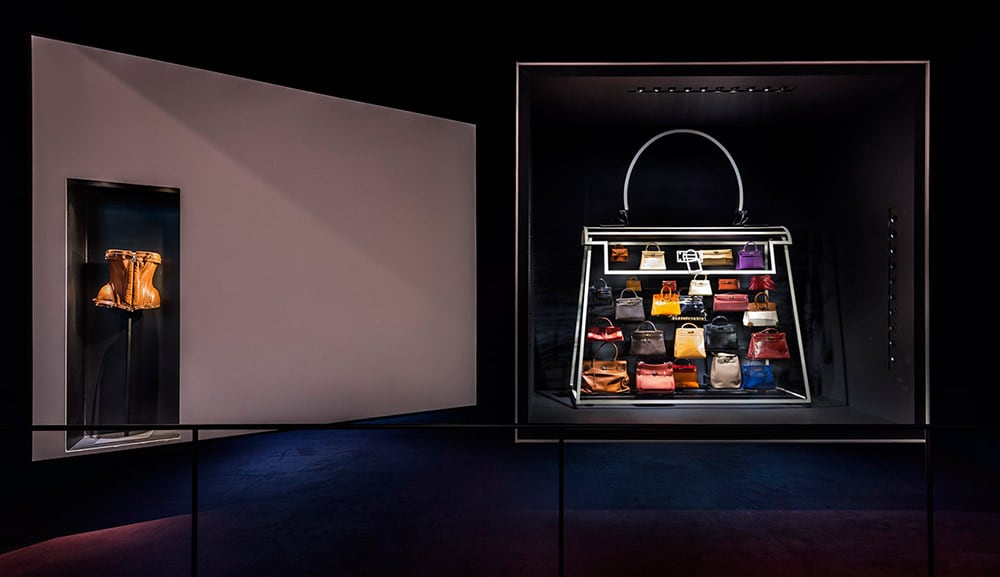 Variations on Kelly and Birkin: Hermès Leather Forever exhibition at ArtScience Museum