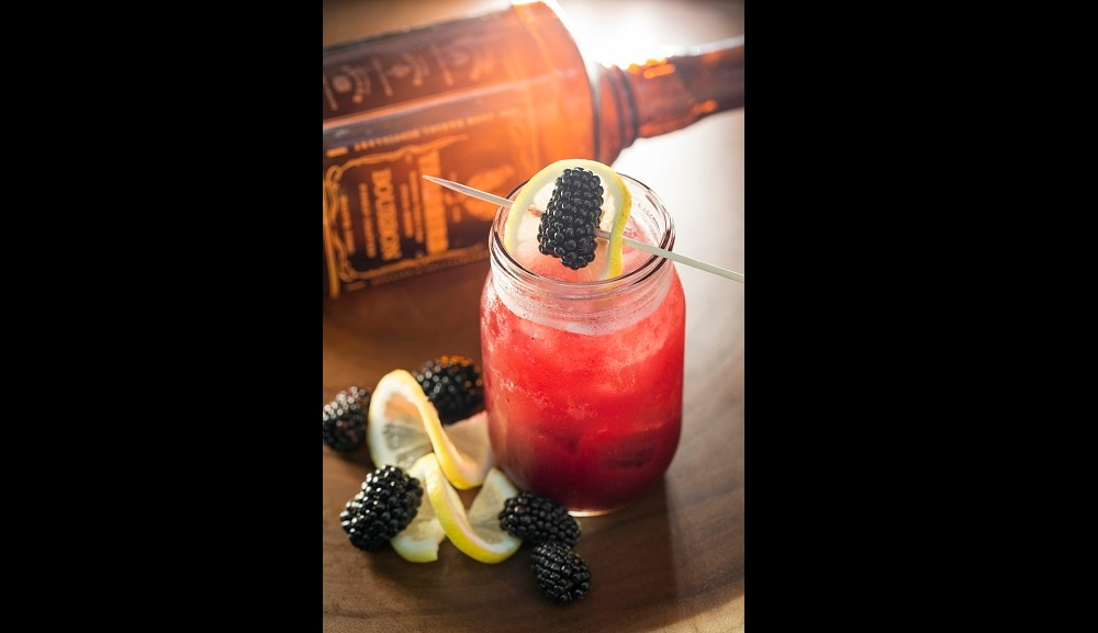 The Bird Southern Table and Bar - Blackberry Bourbon Lemonade