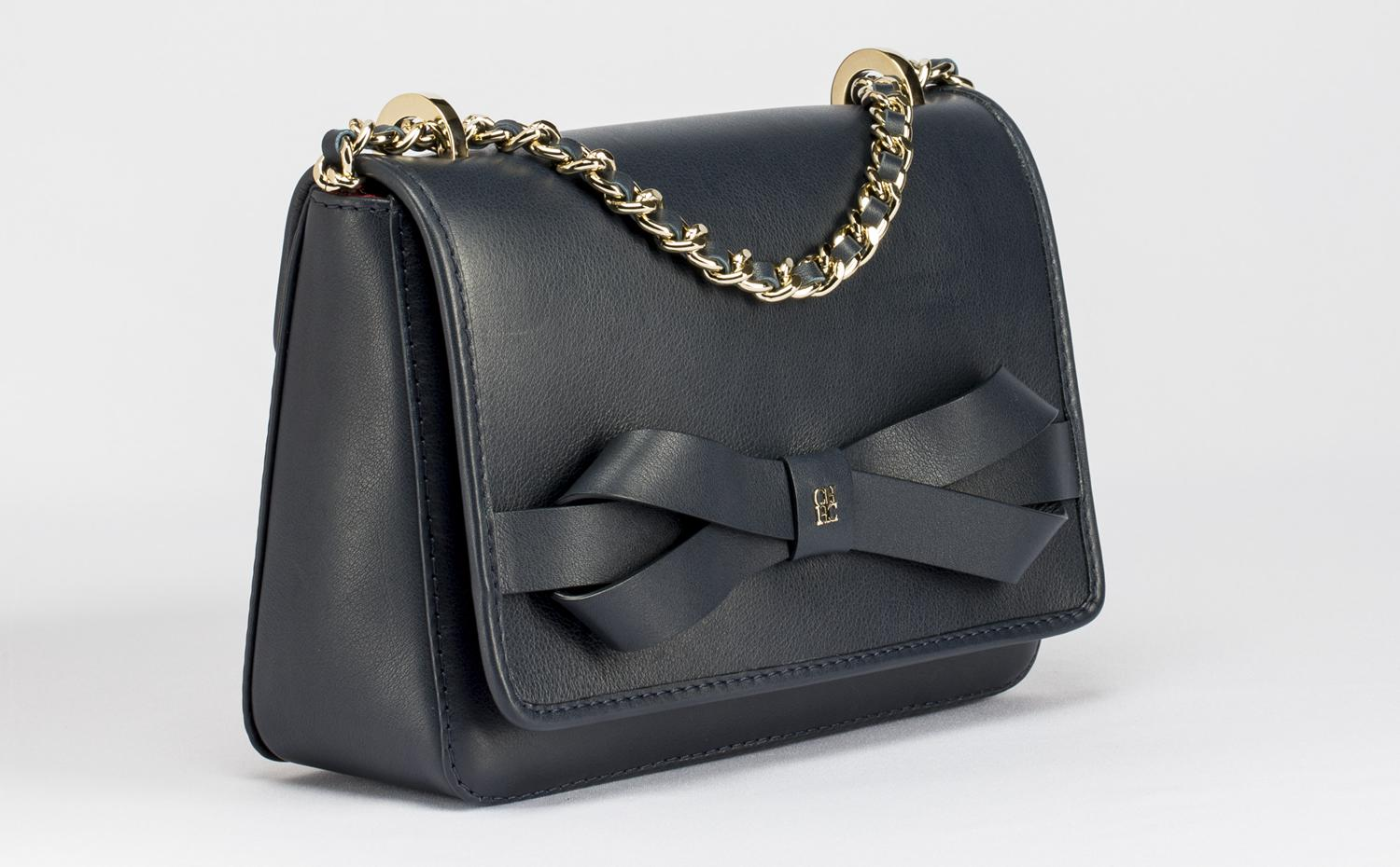 CH Carolina Herrera - MASA Bow Bag 手提包海军蓝