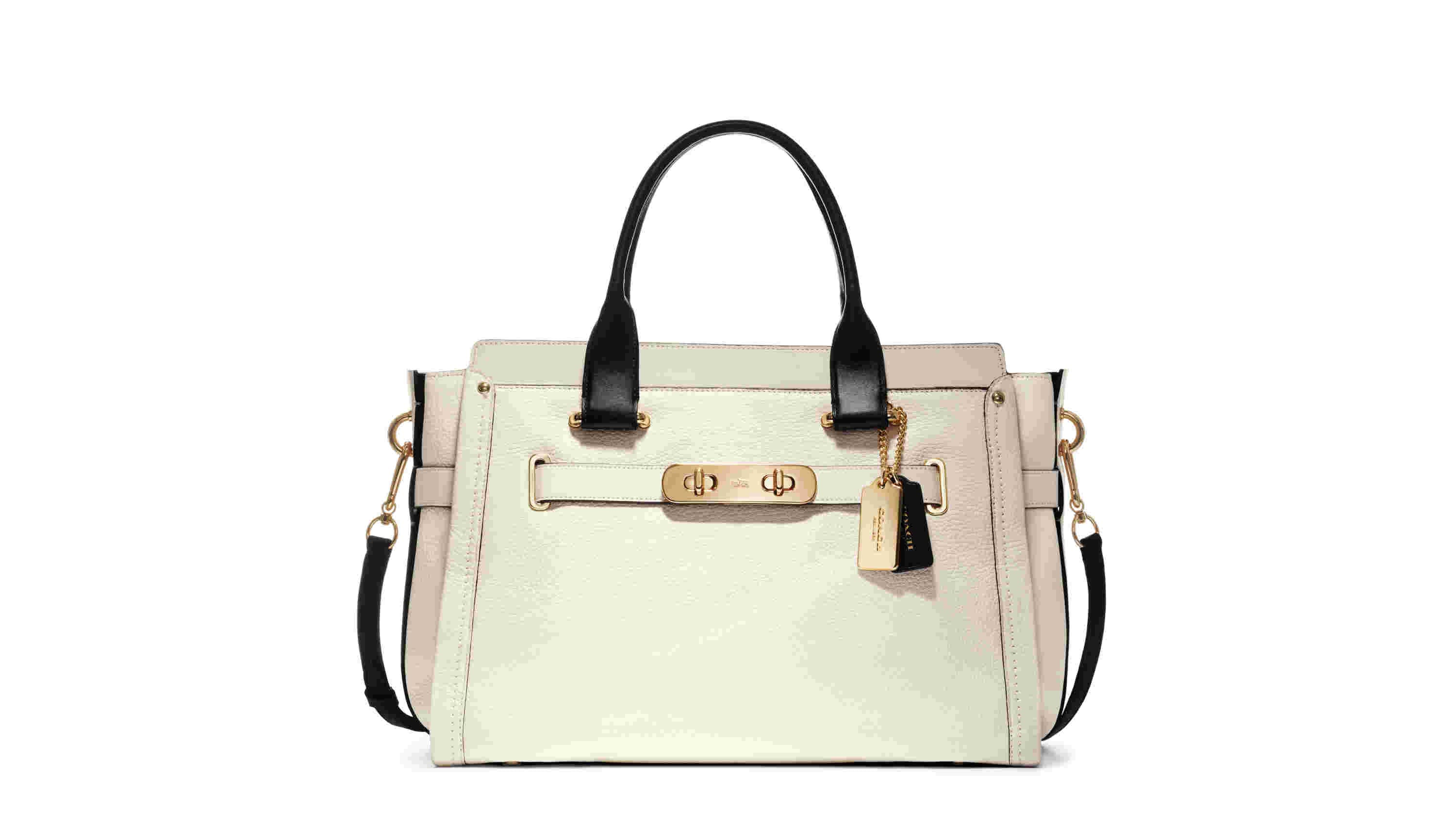 Colorblock Lthr Coach Swagger 37 Carryall