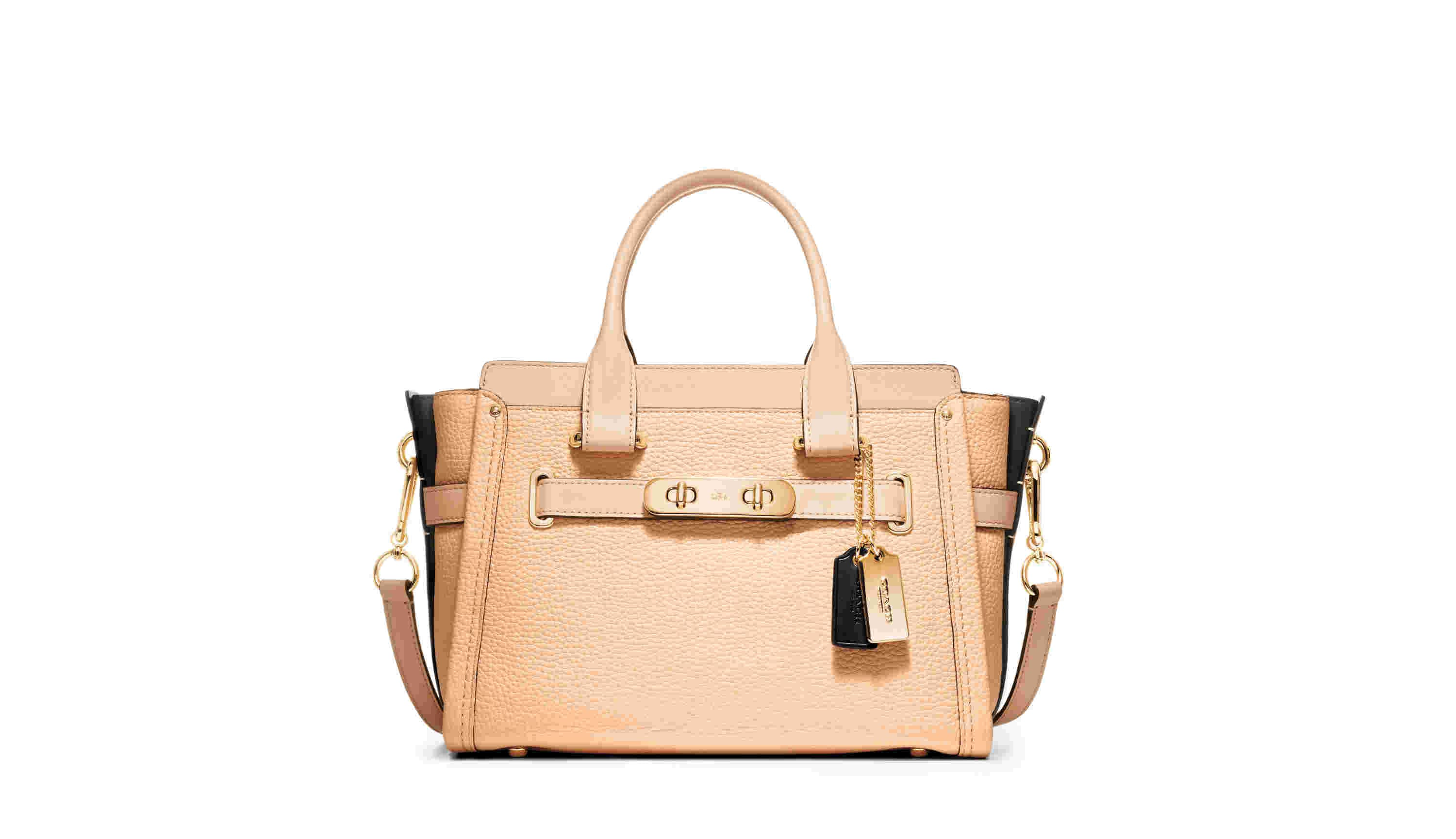 Colorblock Lthr Coach Swagger Carryall