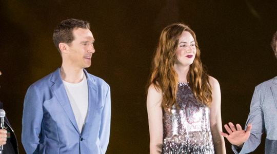 Benedict Cumberbatch & Karen Gillan at Marina Bay Sands