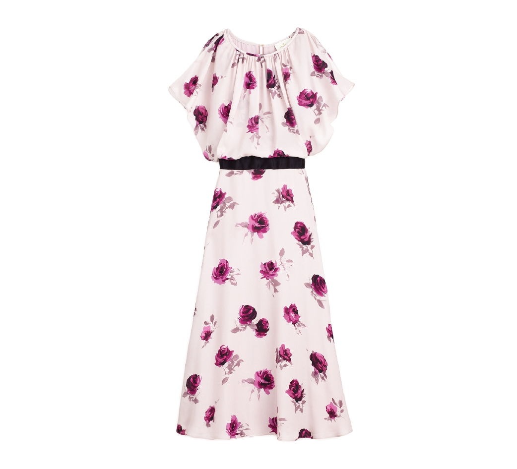 ENCORE ROSE FLUTTER DRESS